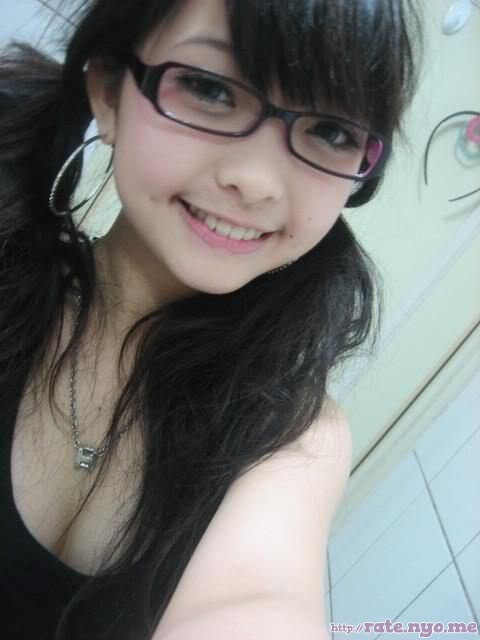 dimples glasses non-celebrity pigtails smiling taiwanese