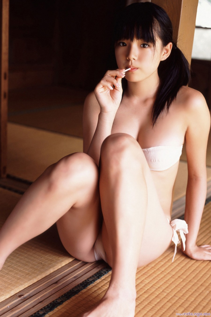 ai_shinozaki bikini breasts cleavage japanese legs sitting thighs