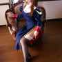 cosplay feet hair_ornament high_heels japanese legs sitting stockings thighs