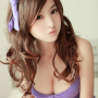 breasts chinese cleavage headband lin_ketong sleeveless