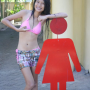bikini filipina legs midriff non-celebrity shorts smiling thighs