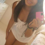 braces breasts chinese legs selfshot short_dress sleeveless smiling thighs
