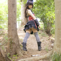 back boots cosplay full_body japanese legs skirt sleeveless stockings thighs