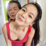 breasts cleavage dimples malaysian non-celebrity sleeveless