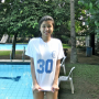 filipina non-celebrity pool shirt smiling thighs wet