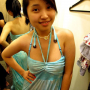 breasts hand_on_waist malaysian non-celebrity sleeveless smiling