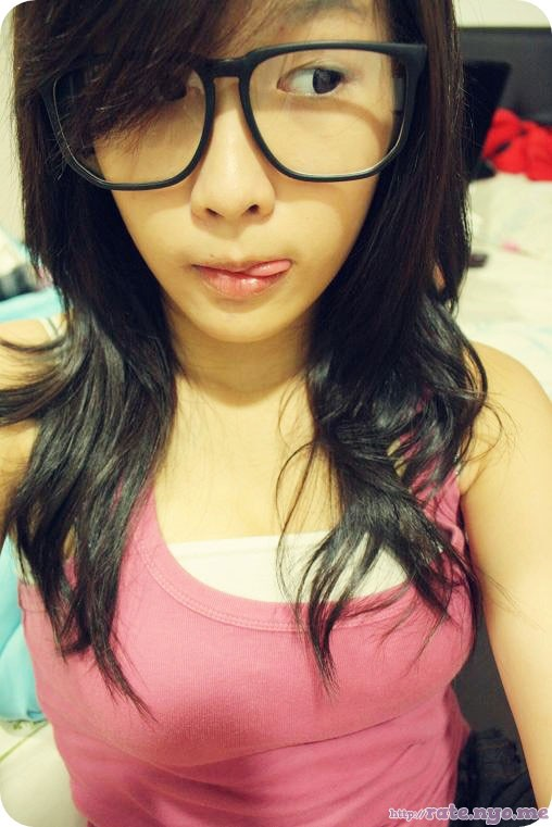 breasts glasses malaysian non-celebrity tongue_out