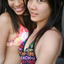 bikini breasts malaysian non-celebrity smiling two_girls