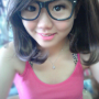 breasts glasses malaysian non-celebrity sleeveless smiling