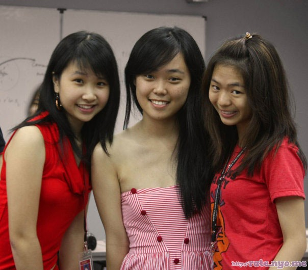 breasts malaysian non-celebrity sleeveless smiling three_girls