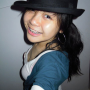 braces breasts cleavage hat malaysian non-celebrity selfshot smiling