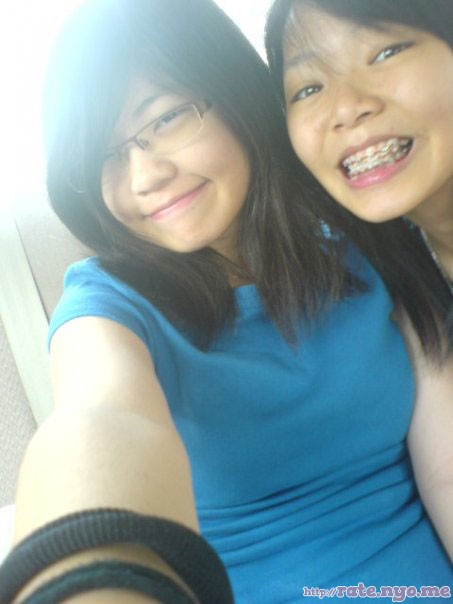 braces breasts malaysian non-celebrity selfshot smiling two_girls