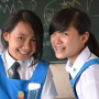 braces malaysian non-celebrity schoolgirl smiling two_girls
