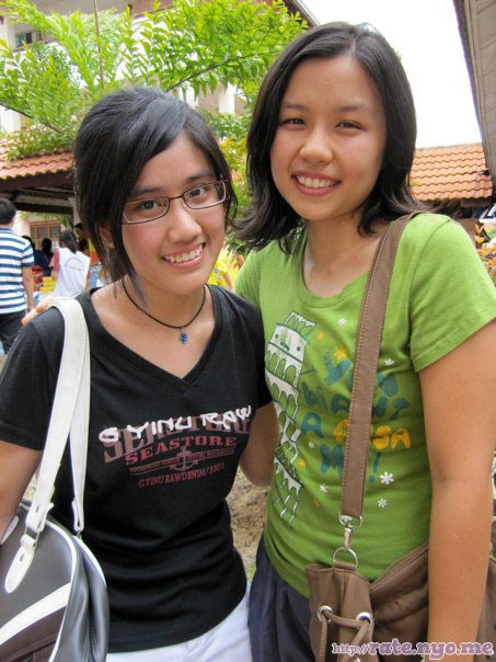 breasts malaysian non-celebrity shirt smiling two_girls