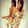 breasts dress legs malaysian non-celebrity short_dress smiling thighs