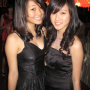 breasts cleavage dress malaysian non-celebrity smiling two_girls