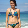 bikini breasts filipina midriff non-celebrity standing thighs