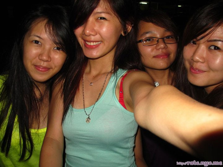 breasts four_girls glasses malaysian non-celebrity selfshot sleeveless smiling