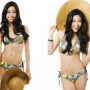 bikini breasts filipina hat legs midriff non-celebrity smiling standing thighs
