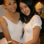 braces breasts hugging malaysian non-celebrity smiling two_girls