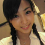 japanese non-celebrity pigtails smiling