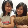 breasts headband malaysian non-celebrity shirt smiling two_girls