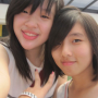 malaysian non-celebrity peace_sign smiling two_girls