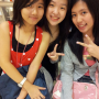 breasts malaysian non-celebrity peace_sign shoulders smiling three_girls