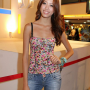 breasts hand_on_waist malaysian non-celebrity smiling standing
