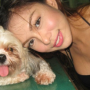 breasts cleavage dog filipina non-celebrity sleeveless smiling