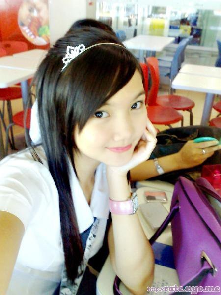 filipina hair_ornament headband non-celebrity schoolgirl selfshot