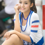 breasts hoang_bao_tran_le legs sitting skirt smiling thighs vietnamese