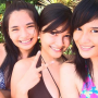 bikini breasts filipina non-celebrity shoulders smiling three_girls