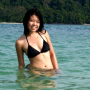 bikini breasts malaysian midriff non-celebrity shoulders smiling wet