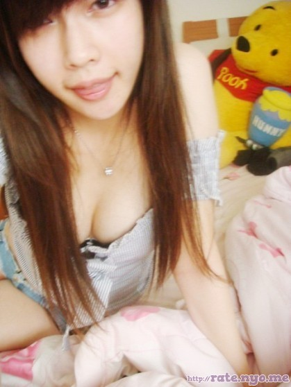 breasts cleavage shoulders taiwanese tongue_out xiangting_xu