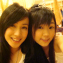 hair_ornament non-celebrity selfshot smiling taiwanese two_girls