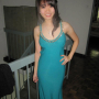 breasts cleavage dress hand_on_waist malaysian non-celebrity shoulders standing