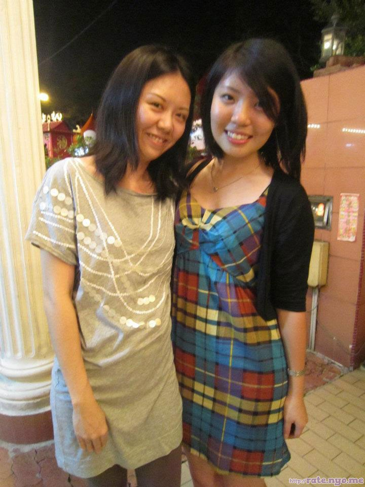 breasts dress malaysian non-celebrity smiling two_girls