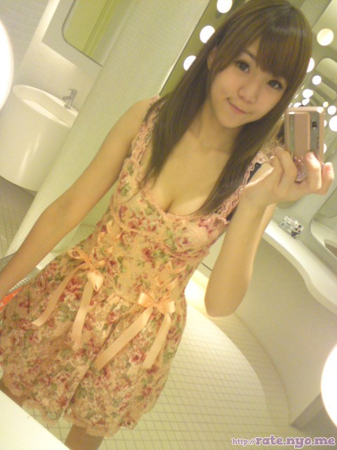 breasts chinese cleavage dress non-celebrity selfshot shoulders