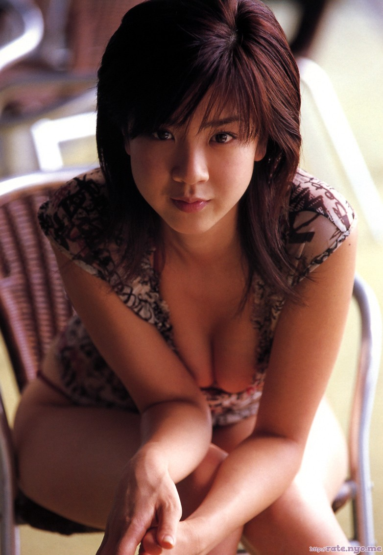 aki_hoshino breasts cleavage japanese leaning legs sitting thighs