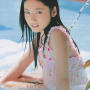 bikini japanese legs pool saaya_irie shoulders sitting smiling thighs wet