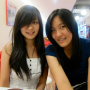 braces breasts malaysian non-celebrity shoulders smiling two_girls