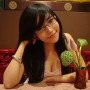 breasts cleavage elly_tran_ha glasses shoulders vietnamese