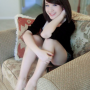 feet full_body legs shorts sitting smiling thighs vietnamese