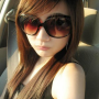 chinese non-celebrity shoulders sleeveless sunglasses
