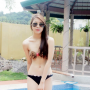 bikini breasts filipina legs midriff non-celebrity pool shoulders standing sunglasses thighs