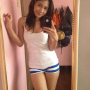 breasts filipina legs non-celebrity selfshot shorts sleeveless standing thighs