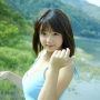 ai_shinozaki breasts cleavage japanese shoulders sleeveless smiling