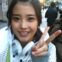 korean lee_ji-eun peace_sign smiling