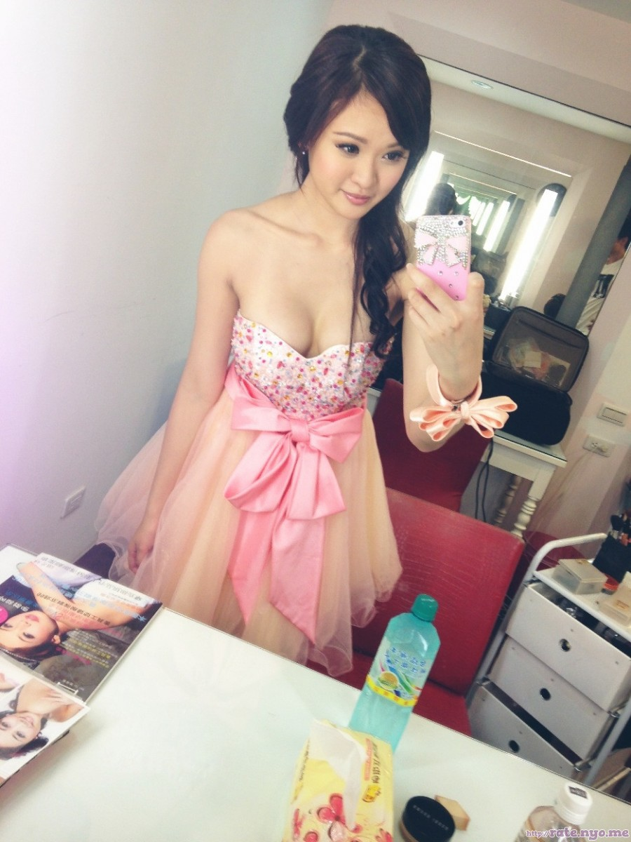 asian_american breasts chinese cleavage dress selfshot shoulders skirt tube_top